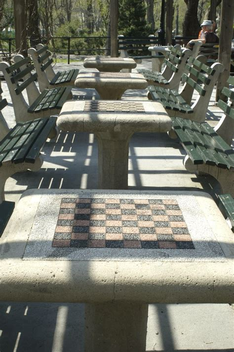 tables in central park chess checkers in central park