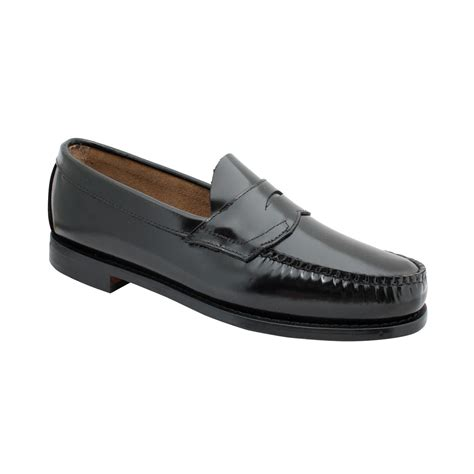 black loafers for g h bass co bass logan weejuns flat
