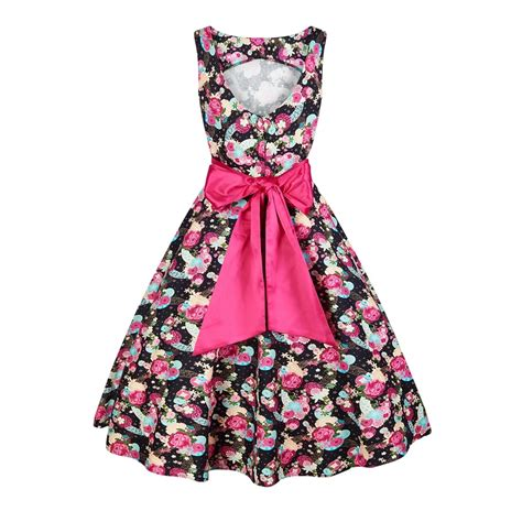 swing dress floral collectif vintage margaret peony floral swing dress