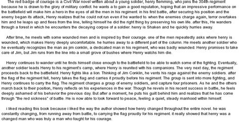 The Badge Of Courage Essay by The Badge Of Courage At Essaypedia