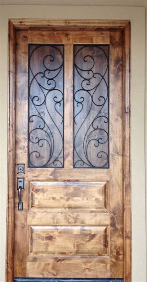 How To Stain An Exterior Wood Door Rustic Front Door Alder Wood Walnut Stain