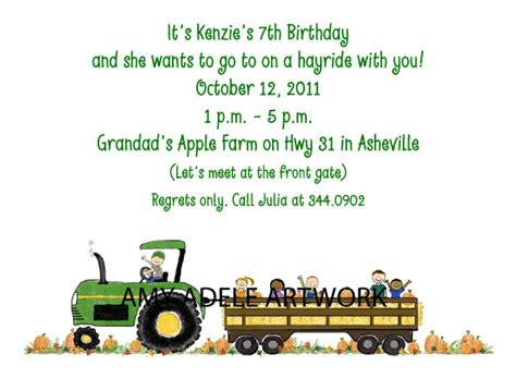 Kode Lc567 hayride invitations by adele