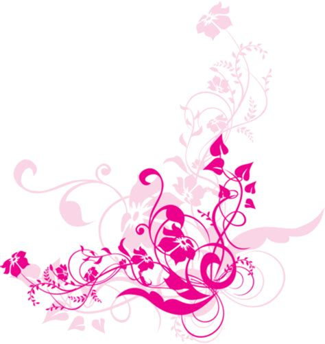 pink pattern background png png swirl flowers design free images at clker com