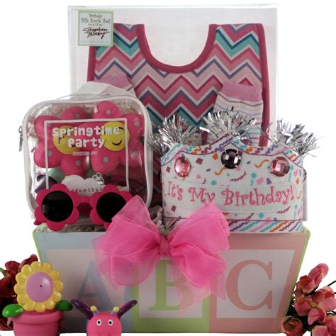Babys First  Ee  Birthday Ee   Baby  Ee  Birthday Ee   Pink  Ee  Gift Ee   Basket
