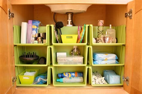 under the kitchen sink storage ideas the orderly home bathroom cabinet organization