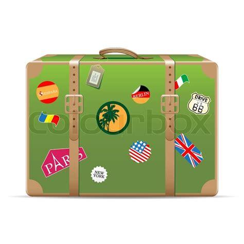 Koffer Aufkleber Kaufen by Vector Vintage Koffer Mit Reise Aufkleber Vektorgrafik