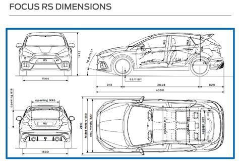 Ford Focus Interior Dimensions mk3 focus rs dimensions focus rs mk3 discussion focus
