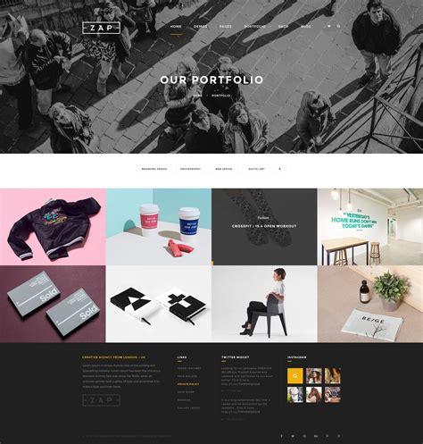 themeforest zap zap creative psd template by la studio themeforest
