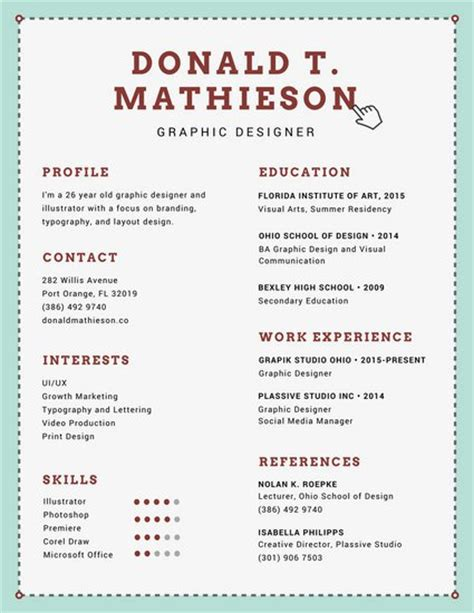 Resume Format For Graphic Designer by 29 Awesome Infographic Resume Templates You Want To