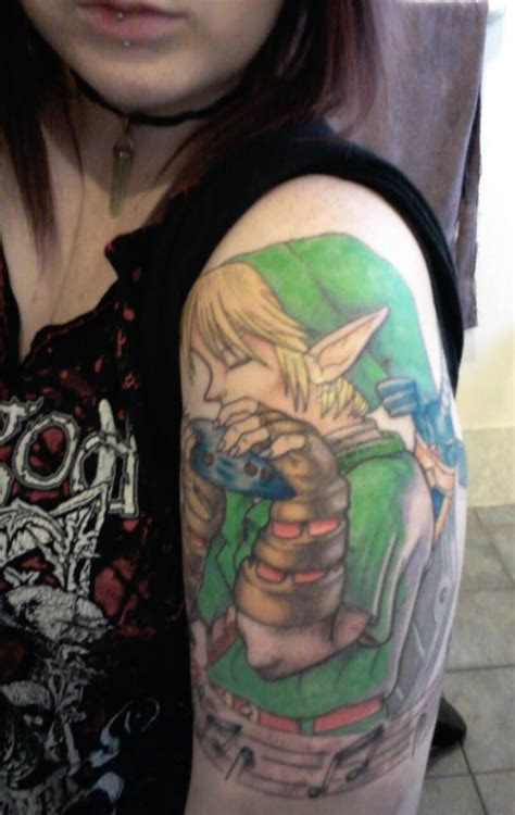link tattoo my link finished for now by jade maggot on