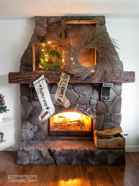 Fireplace Wreaths by Sign Styled Reclaimed Wood On A