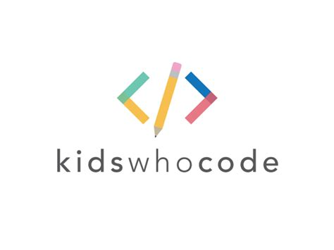 html layout with logo kids who code logo by andrew kersey dribbble