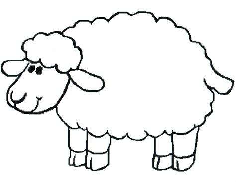 sheep templates printable clipart best