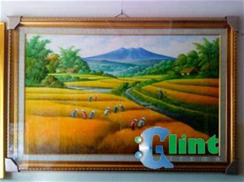 Jual Plastik Uv Bali jual lukisan panen padi glint frame tempat pembuatan