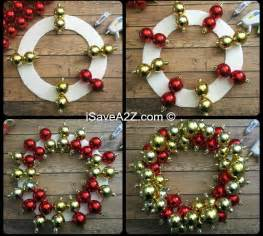 how to make an ornament wreath isavea2z com