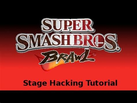 tutorial hack ex how to hack mod super smash bros brawl stages icons