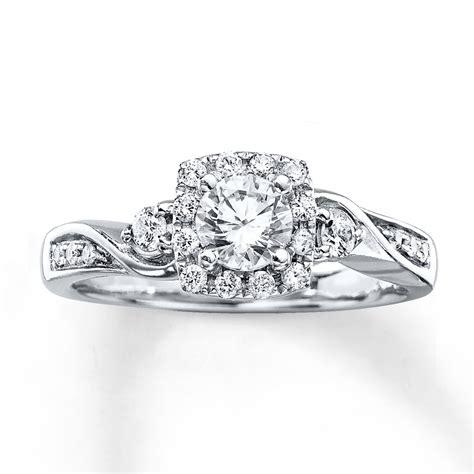 engagement ring 5 8 carat tw cut 14k