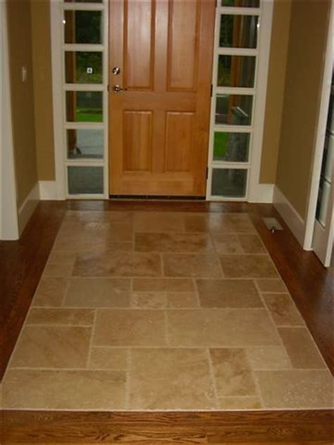 foyers entry flooring idea medici mosaic motif by top 25 ideas about transition flooring on pinterest