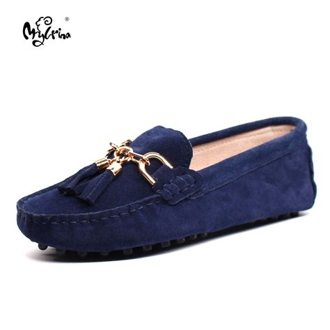 Flat Shoes 2018 Aamr shoes 2018 genuine leather s flat shoes casual loafers slip on shoes flats