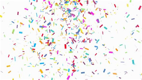 colorful confetti animation of colorful confetti falling on white background