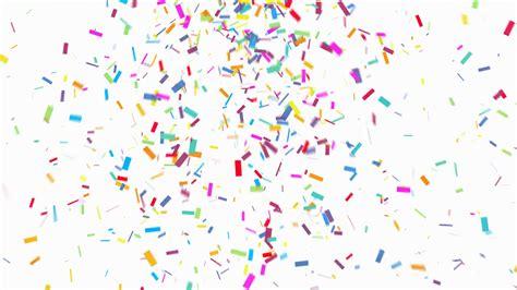 confetti background animation of colorful confetti falling on white background