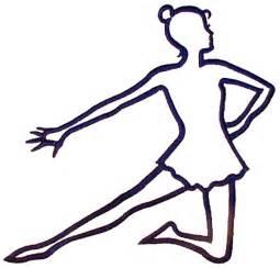 Dancer Outline arts embroidery design kneeling dancer outline from grand slam designs
