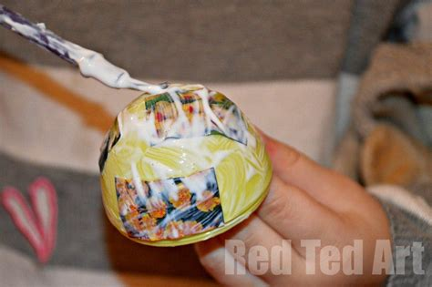 Decoupage For Children - decoupage eggs for ted s