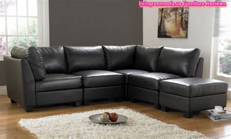 L Shaped Black Leather Sofa Living Room Design Living Room Decor Black Leather Sofa