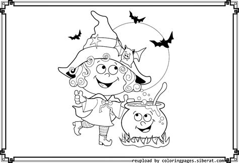 cute witch coloring coloring pages