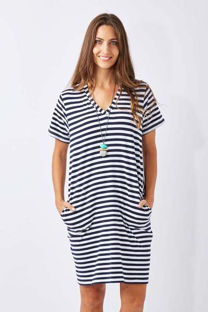 Delia Stripe Tunic cordelia st stripe pocket tunic womens dresses