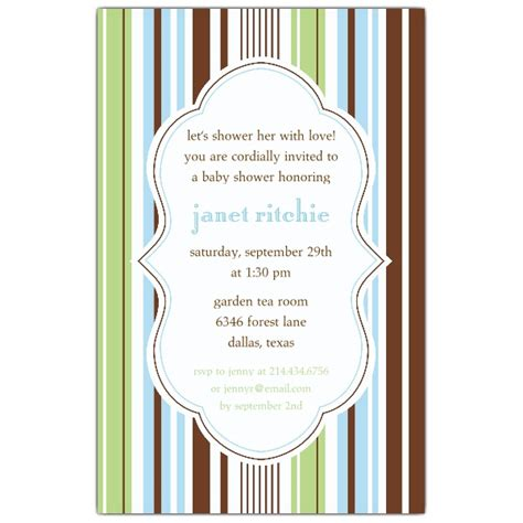 Drink Coasters stripes blue green baby shower invitations paperstyle