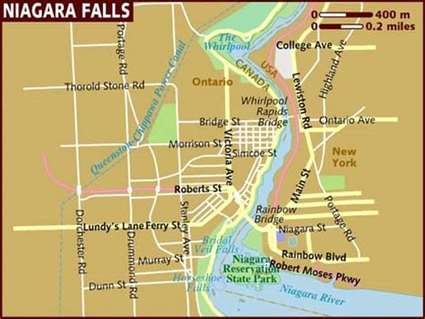 map usa niagara falls map of niagara falls