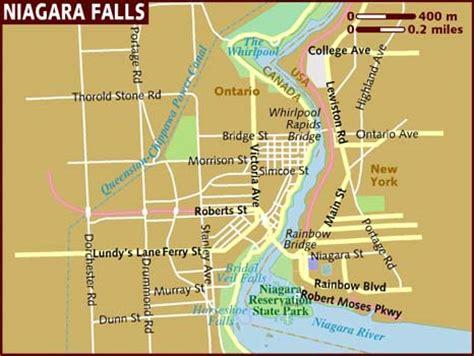 map of hotels in niagara falls canada map of niagara falls