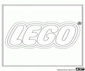 Lego logo construction toys coloring page