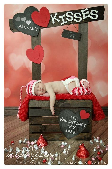who made up valentines day and easy to make set up baby photography