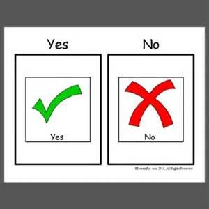 basic yes no cards