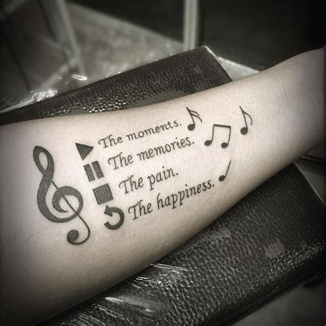 music quote tattoos 100 designs for tattoos