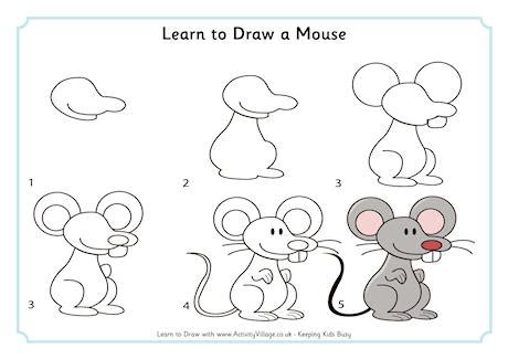 learn doodle drawing learn to draw a mouse