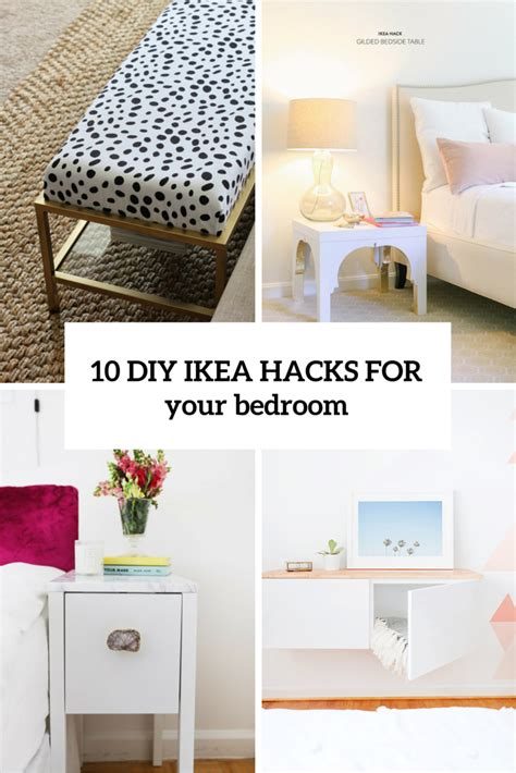 diy for bedroom 10 awesome and practical diy ikea hacks for your bedroom shelterness