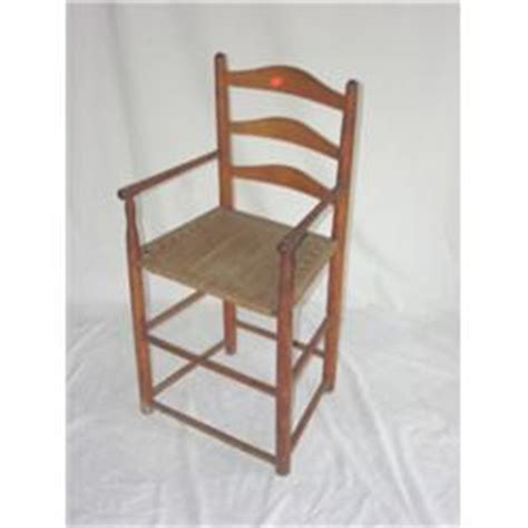 early ladderback rope bottom primitive high chair