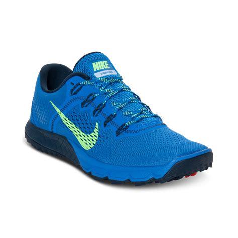 nike zoom sneakers nike zoom terra kiger running sneakers in blue for lyst