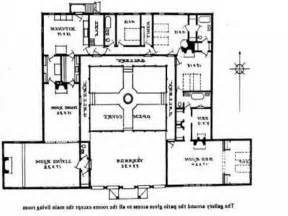 hacienda style house plans with courtyard spanish lrg