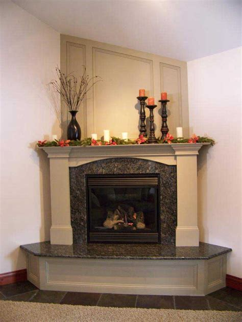 this look granite fireplace with step and mantle for the family room