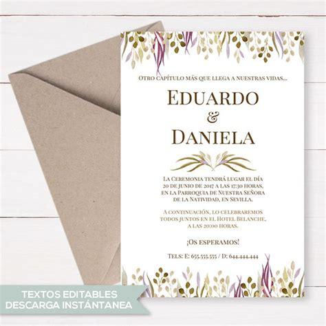 invitaciones de boda por 30 centimos invitaciones boda 20 centimos www kamalion mx invitaci 243 n de boda imprimible invitaciones de boda imprimibles plantillas con textos