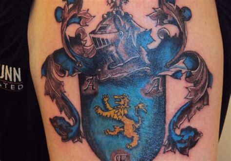 tattoo galleries family crest 25 unique family crest tattoos creativefan