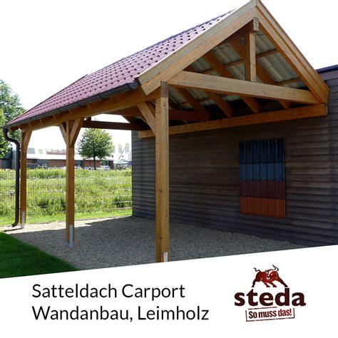 carport wandanbau carport satteldach leimholz holz 4x7 m 400x700 cm