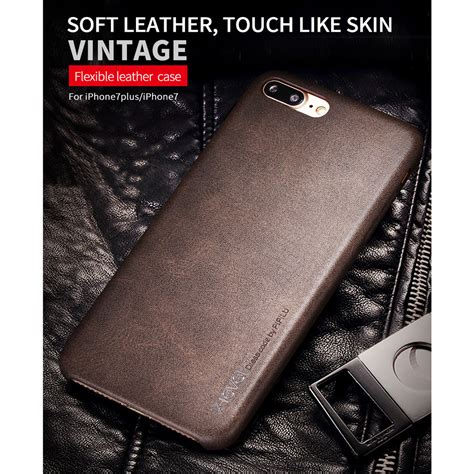 Diskon Leather For Iphone 7 7plus Brown x level vintage leather for iphone 7 plus 8 plus brown jakartanotebook