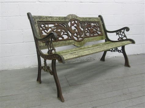vintage wrought iron bench vintage wrought iron garden bench at 1stdibs