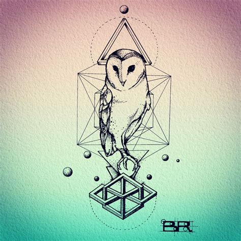 geometric owl tattoo 17 best ideas about geometric owl on
