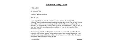 letter closing exles tomyumtumweb